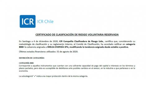 Clasificación de Riesgo BBB+