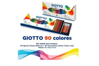 SET LAPICES GIOTTO 90 COLORES