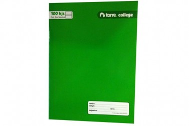 CUADERNO TORRE COLLEGE CAL.HORI. 100 HJS LISO