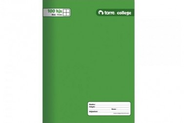 CUADERNO TORRE COLLEGE 7 MM   100 HJS.LISO