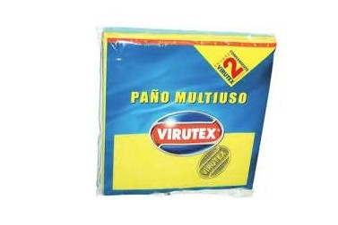 PAÑO MULTIUSO 38X40CM VIRUTEX ANTIBACT
